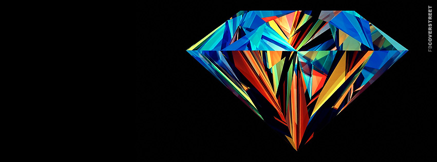 Colorful Diamond Artwork  Facebook Cover