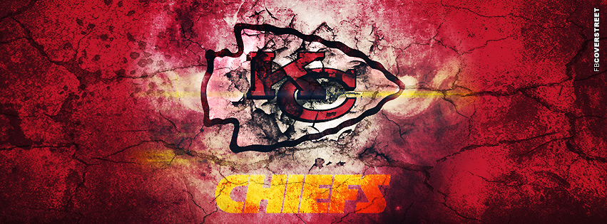 Kansas City Chiefs Grunged Logo Facebook cover