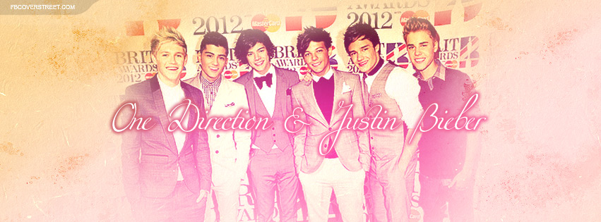 One Direction and Justin Bieber Facebook Cover