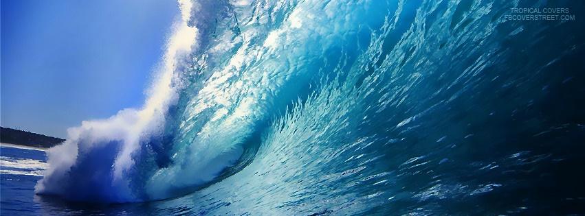 Tropical Ocean Wave Facebook Cover
