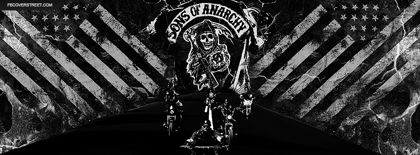 Sons of Anarchy Club Riding and Logo Facebook Cover