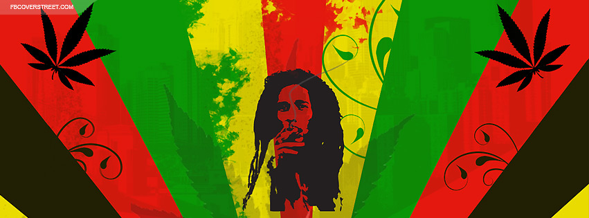 Bob Marley Vector Design Facebook Cover