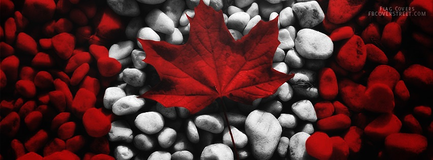 Canadian Flag 3 Facebook Cover