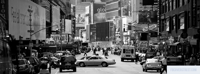 New York City Black and White Facebook Cover