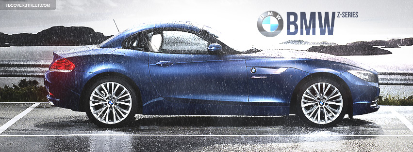 Dark Blue BMW Z-Series Facebook cover