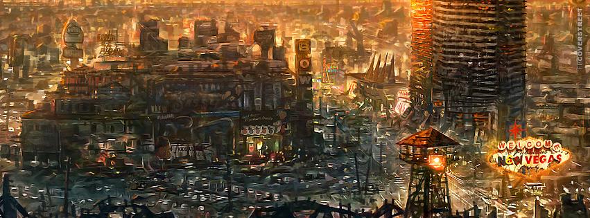 Fallout 3 New Vegas City  Facebook cover