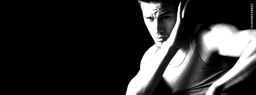 Channing Tatum Modeling Karate Pose  Facebook Cover