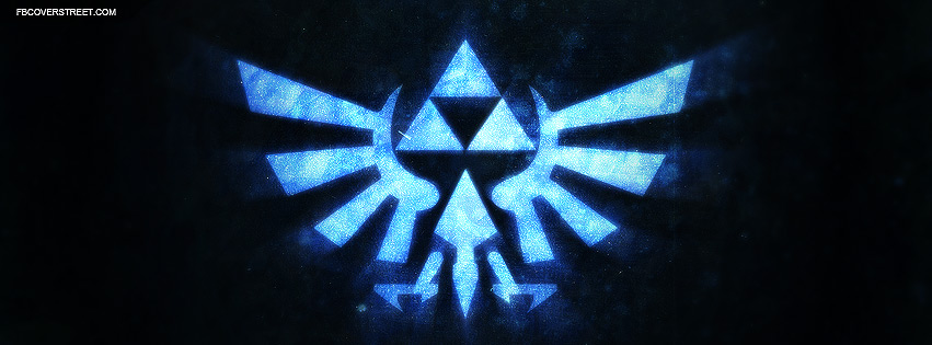 Hylian Crest Grungy Logo Facebook Cover