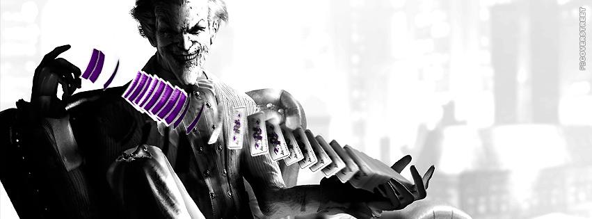 The Joker Arkham Asylum Shuffling Cards  Facebook Cover