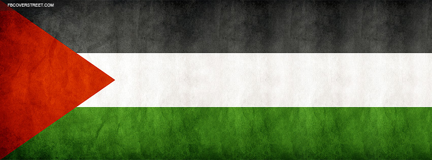 Palestine Grungy Flag Facebook Cover