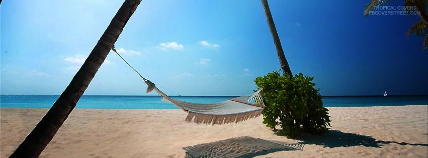 Tropical Hammock On A Beach Facebook Cover