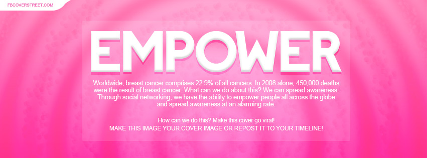 Empower Breast Cancer Awareness Facebook Cover