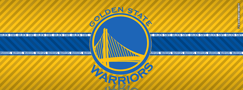 Golden State Warriors Striped Facebook cover
