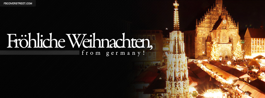 frohliche weihnachten from germany facebook cover. Black Bedroom Furniture Sets. Home Design Ideas