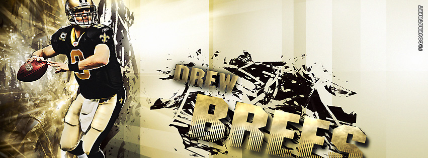 New Orleans Saints Drew Brees Facebook Cover