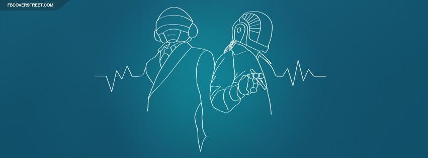 Daft Punk Lifeline Wireframe Facebook Cover