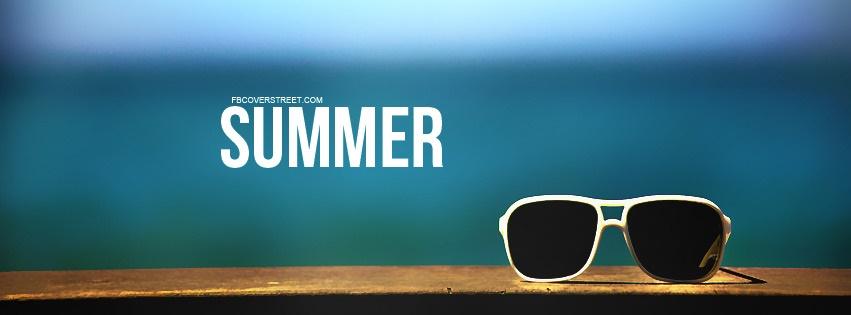 Summer Sunglasses Ocean View Facebook Cover