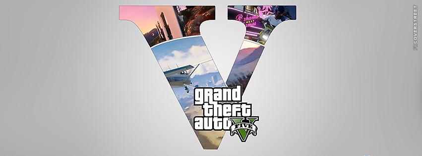 GTA V Collage Logo  Facebook Cover