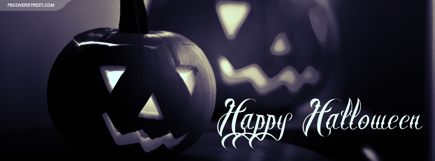 Happy Halloween 2 Pumpkins Facebook Cover