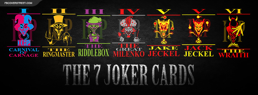 The 7 Joker Cards Facebook Cover