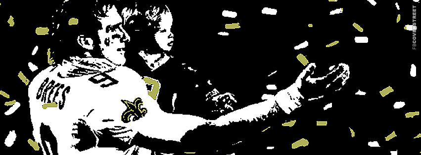 Drew Brees and His Son Bit Pixel Facebook cover