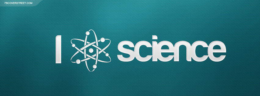I Like Science Blue Facebook Cover