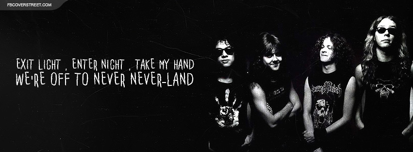 Metallica Enter Sandman Lyrics Facebook Cover