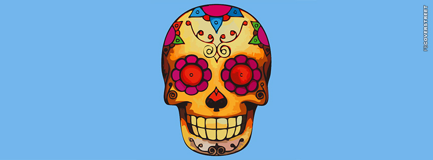Dia Des Los Muertos Skull  Facebook cover