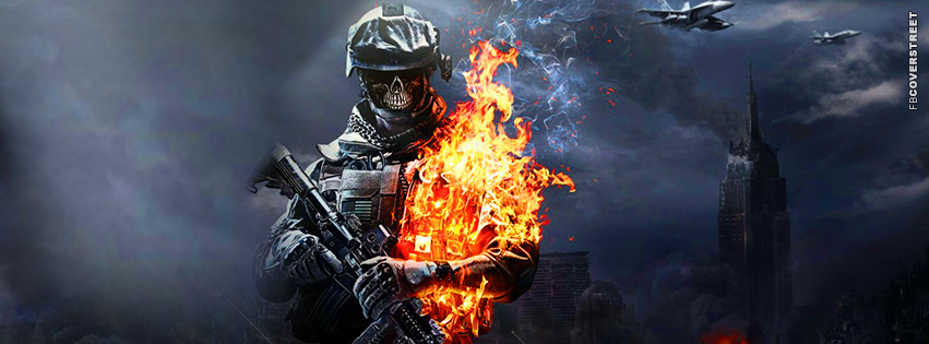 Battlefield 3 Zombie Soldier  Facebook cover