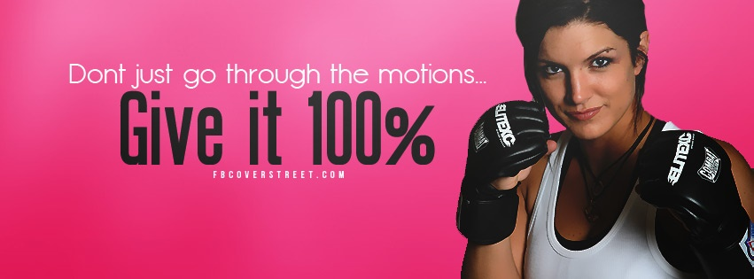 Give It 100 Facebook cover