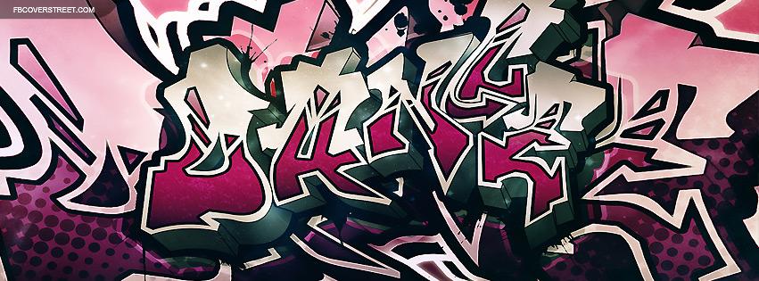 Pink Dance Graffiti Facebook cover
