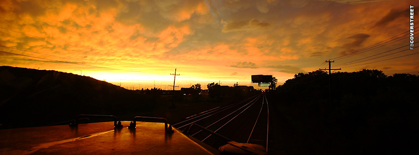 Train Sunset Photograph  Facebook cover