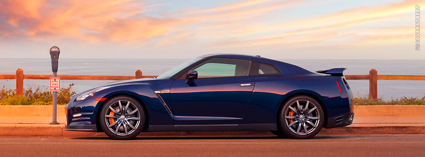 Blue Nissan GT  Facebook cover