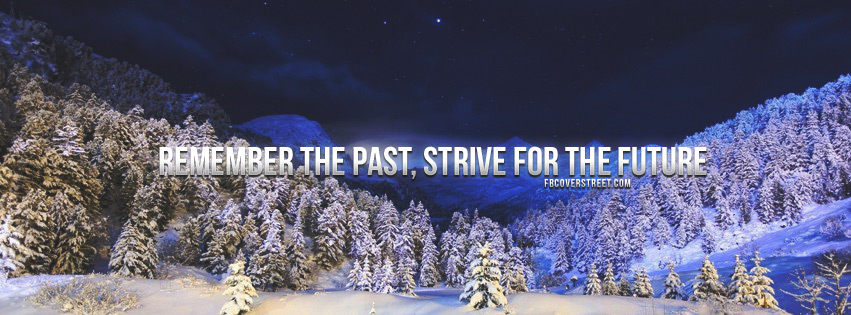 Thrive For The Future Quote Facebook Cover