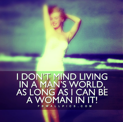 Marilyn Monroe Mans World Quote Facebook picture