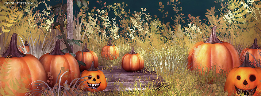 Halloween Happy Pumpkin Patch Facebook Cover