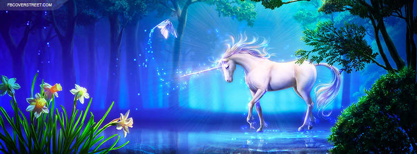 Unicorn Painting Facebook Cover - FBCoverStreet.com
