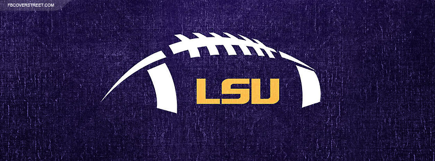 Louisiana State University Football Logo Facebook Cover