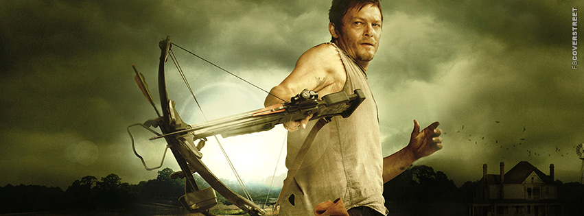 Daryl Dixon Running The Walking Dead  Facebook Cover