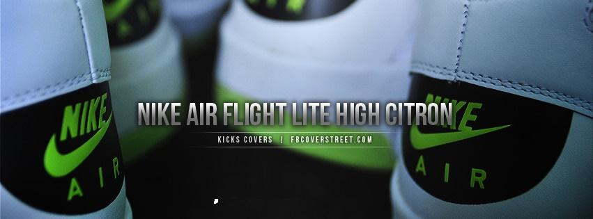 Nike Air Flight Lite High Citron Facebook Cover