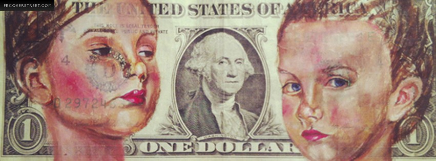 Dollar Bill Artwork  Facebook cover