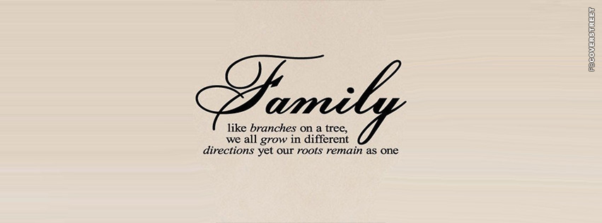 Family Like Branches On A Tree  Facebook cover