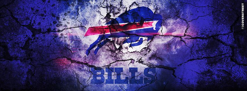 Buffalo Bills Grunged Logo Facebook cover