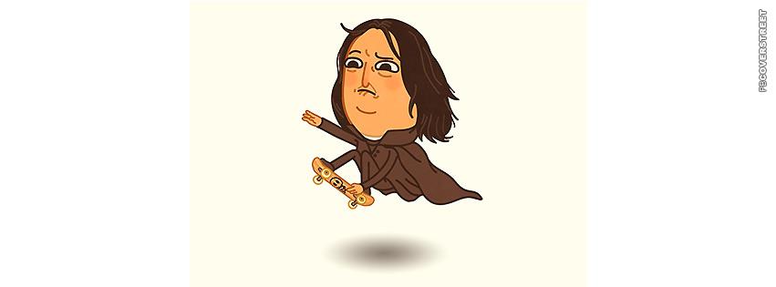 Snapeboarding Professor Snape Harry Potter  Facebook cover