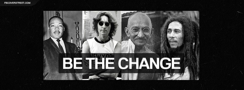 John Lennon Facebook Covers Be The Change Collage TW Cover