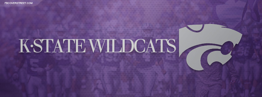 Kansas State Wildcats Logo and Game Photo Facebook Cover