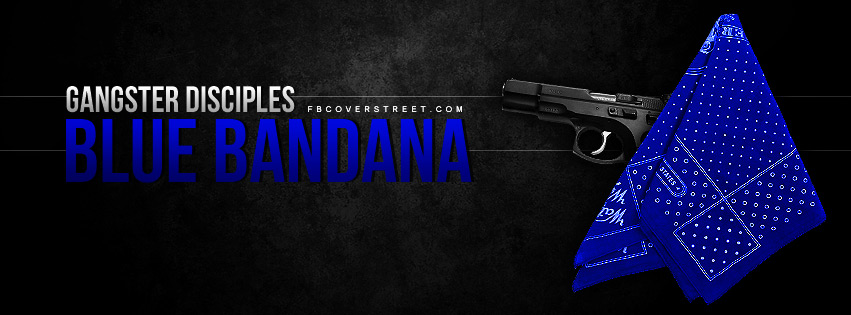 Gangster Disciples Blue Bandana Facebook cover