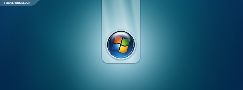 Windows 7 Glassy Logo Facebook cover