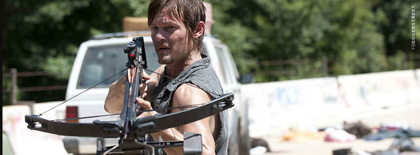 Daryl Dixon The Walking Dead  Facebook Cover