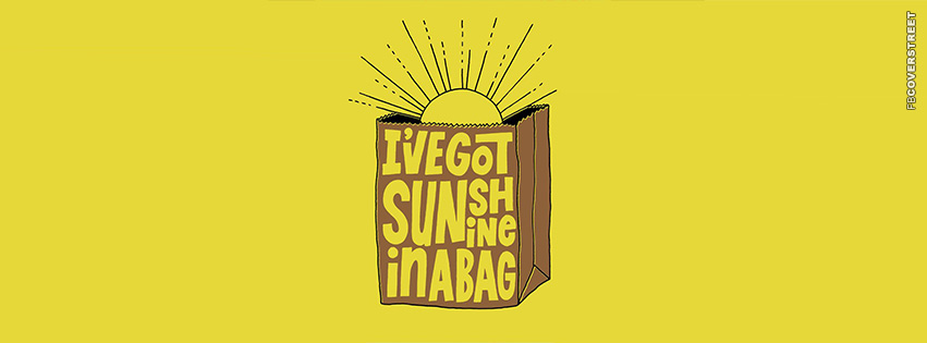 Ive Got Sunshine In A Bag Mumford and Sons  Facebook cover